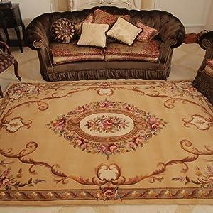 易普美家 纯羊毛地毯 客厅茶几地毯 欧式别墅奢华 加厚地毯卧室 床边