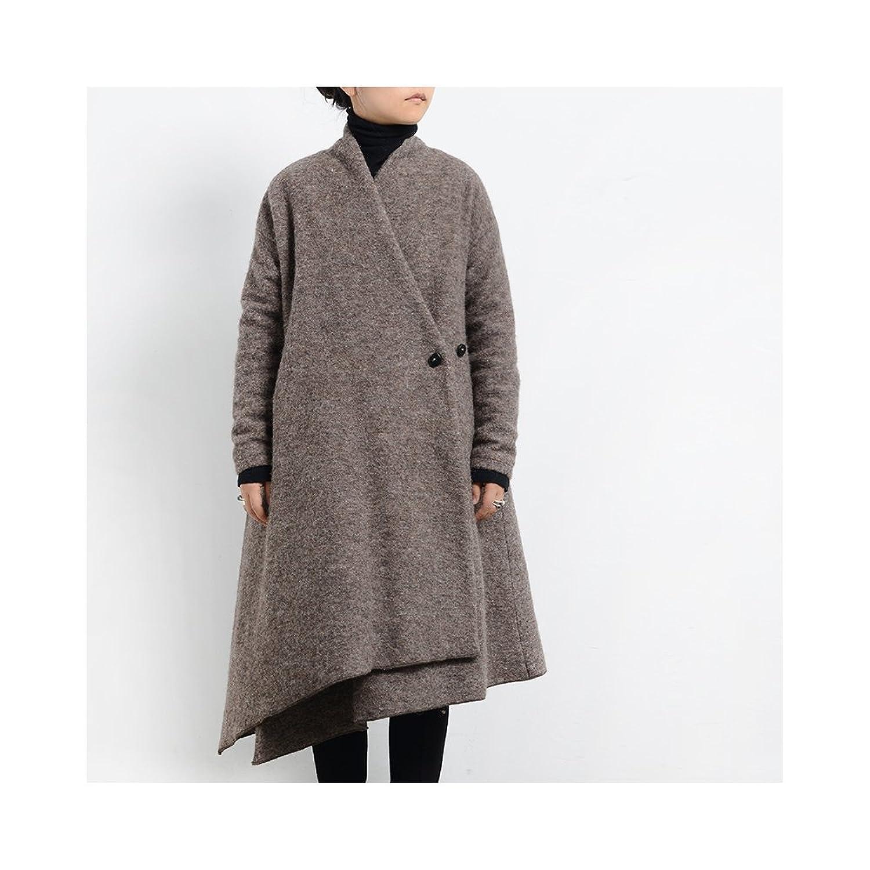 旅途原品_怀抱 原创设计女装 秋冬天中长款加厚外套 羊毛呢子大衣 (s