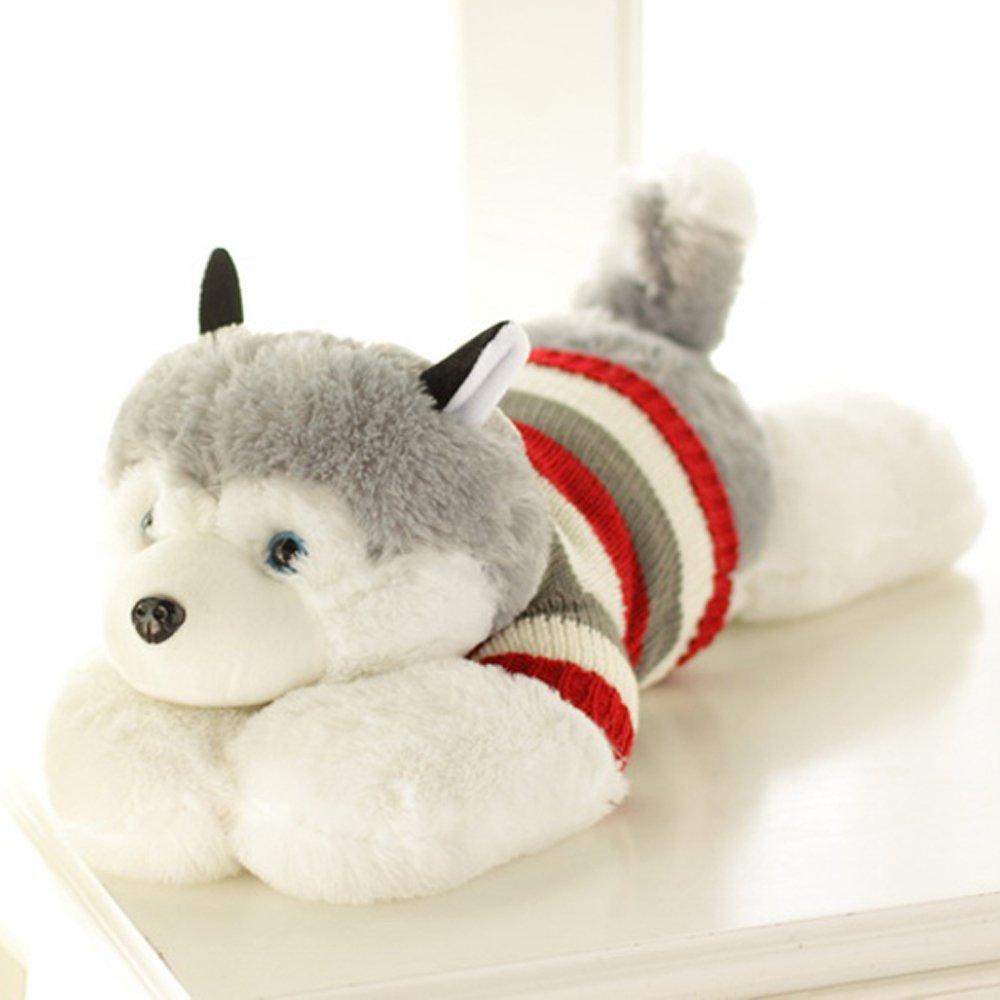 大眼猫 玩偶公仔 哈士奇毛绒玩具狗 趴趴狗 可爱布娃娃生日礼物 (50cm