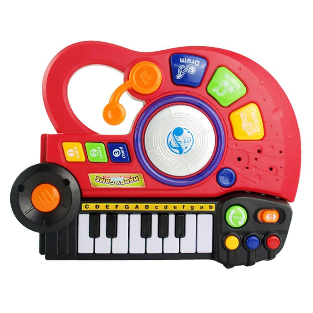 灿辉 三合一儿童吉他音乐早教玩具吉它电子琴音乐玩具