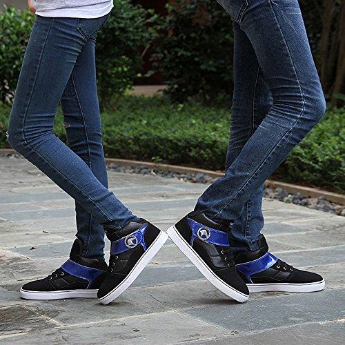 秋冬时尚韩版情侣鞋休闲高帮鞋潮流男女运动板鞋个性潮男鞋休闲女鞋短靴
