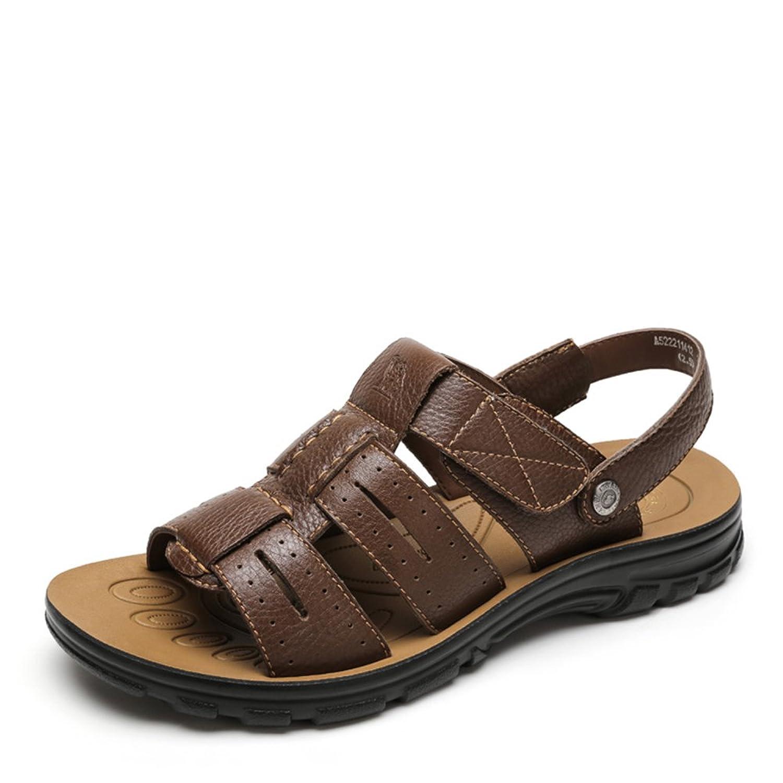 Camel 骆驼 凉鞋 男 日常休闲牛皮凉鞋 2015夏季新款露趾透气凉鞋