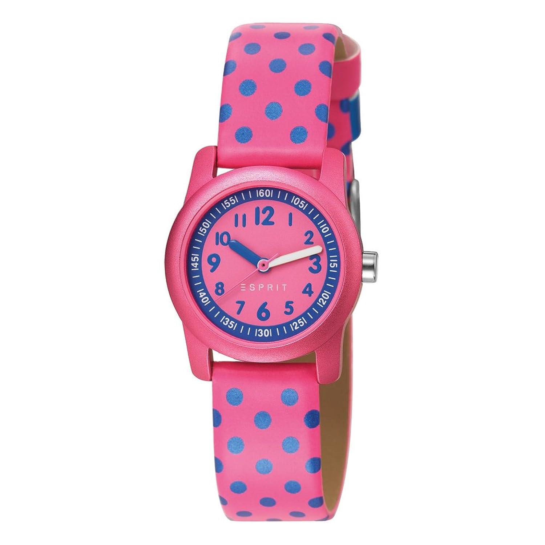 2014春夏 正品可爱时尚粉红波点 防水石英机芯儿童表 es000fa4036蓝色
