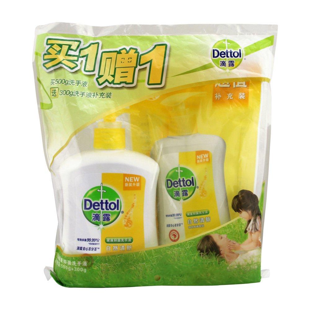 滴露健康抑菌洗手液(自然清新)500g送300g ¥10.4