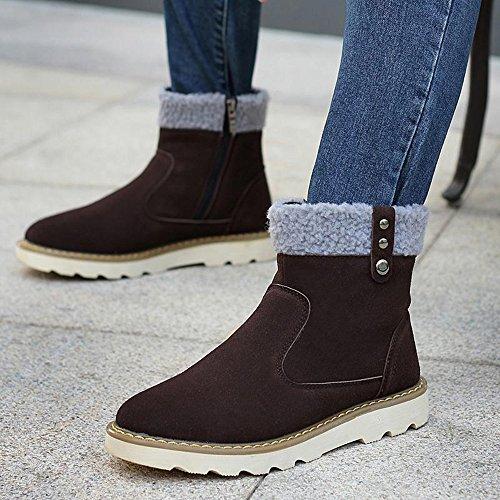 Yulu 优牛 秋冬韩版人气时尚学院风潮流休闲男靴个性雪地靴加绒保暖真皮棉靴