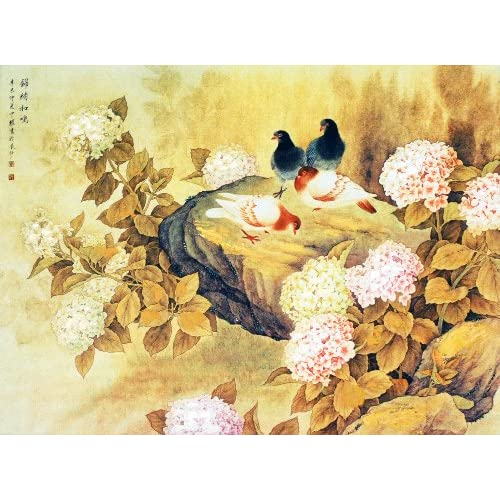 颂风无框油画 中国工笔重彩画系列之诗情画意 JD13273 40 30cm图片