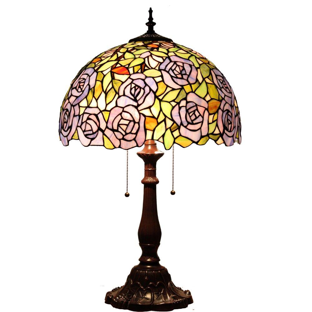 欧式40cm蒂凡尼咖啡馆田园艺术灯卧室台灯客厅休闲台灯书房创意台灯d