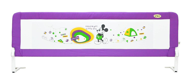 威凯 婴儿床围迪士尼系列儿童床护栏通用款婴儿床围栏1.8米宝宝大床挡板加高加宽可翻转B201 丁香紫