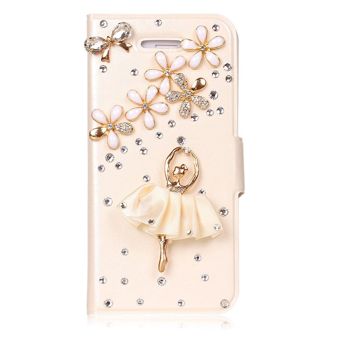 yidaou苹果5手机壳皮套iphone5保护套可爱iphone5手机壳纸袋女折口水钻图片