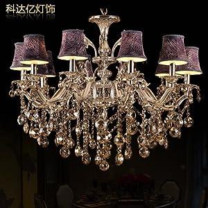 科达亿 锌合金欧式水晶吊灯 客厅灯餐厅卧室灯具银色灯具dd8802 出口
