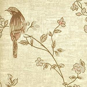 本木n壁纸田园风格墙纸中式花鸟墙纸客厅电视背景图片