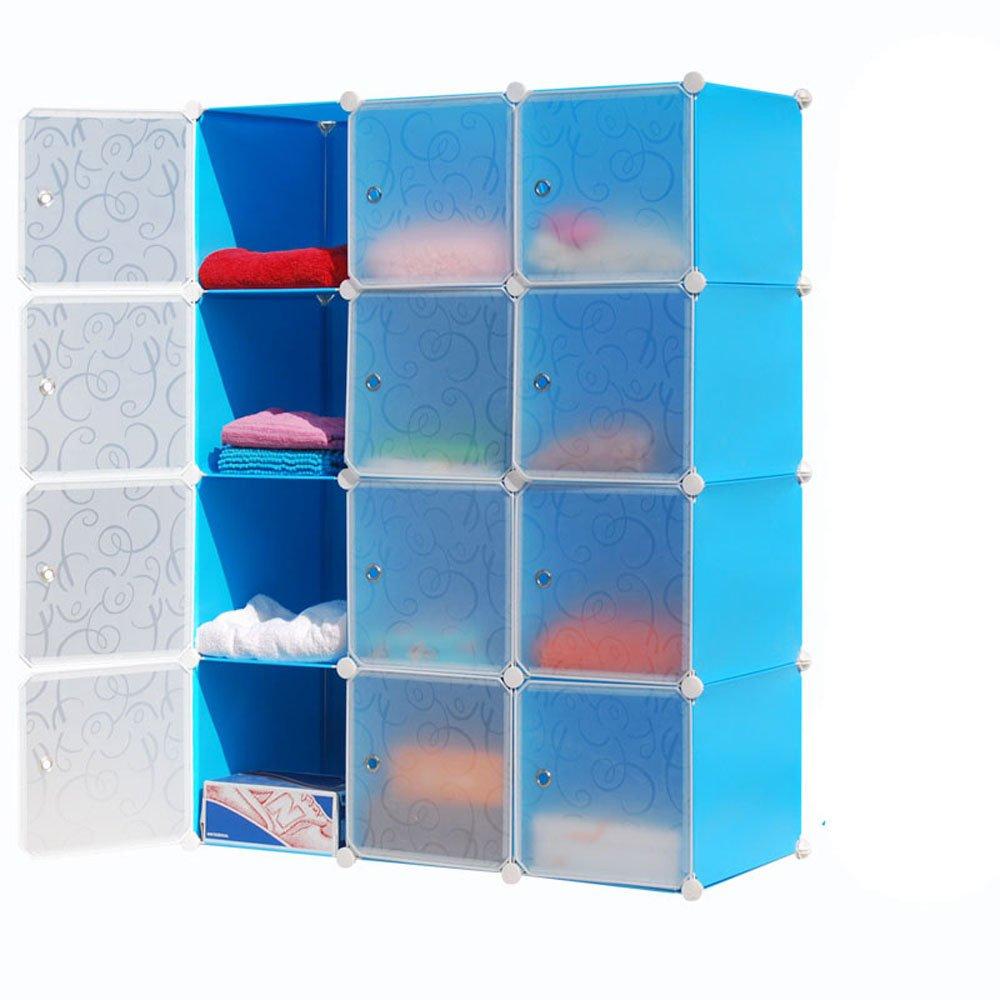 洛克衣柜 洛克简易组合衣柜 防尘折叠组装塑料环保树脂衣橱收纳柜简约