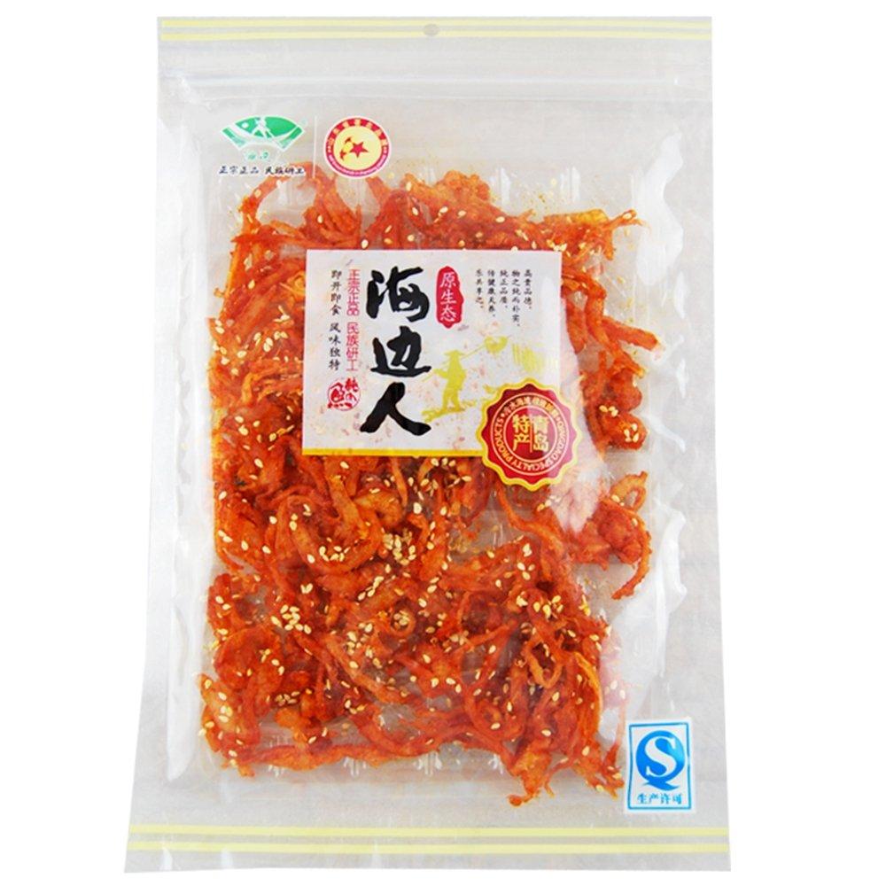 海边人 微辣珍味鱿鱼丝120g 青岛特产鱿鱼条香辣海味零食
