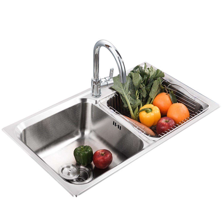 ENZORODI 德国安住 双槽水槽套装 ERK50125E  304不锈钢 全铜净铅厨房龙头