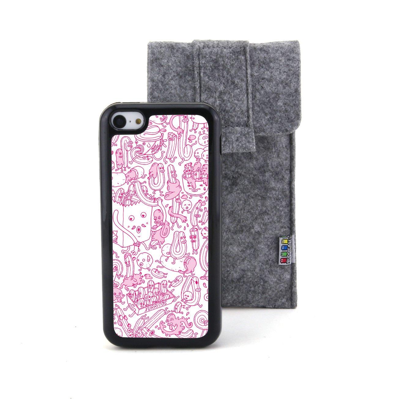 粉色 卡通动物甜甜圈浮雕设计风格 塑料 tpu手机壳 手机套 适用于