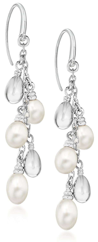 tuscany silver 925纯银 珍珠串珠耳环