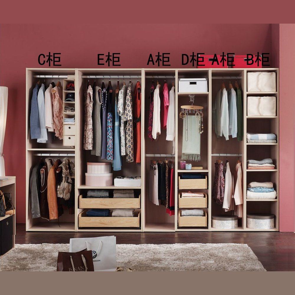 板式家具衣柜定制,步入式衣帽间,简约现代环保板式卧室衣柜 衣帽间