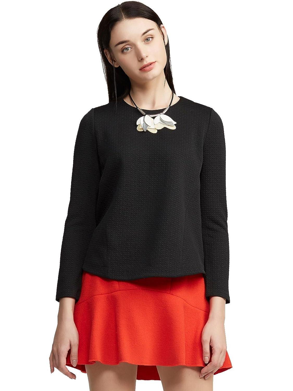 Lily 女式 复古几何暗纹肌理感梭织套头衫 114420I8326 【Lily】 服饰箱包