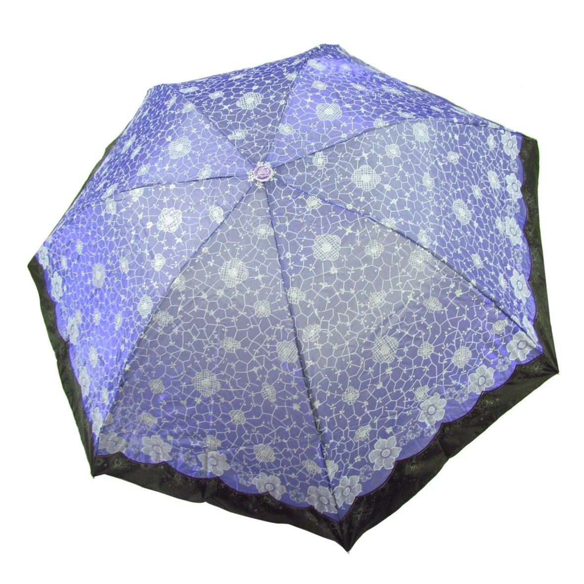 超强防紫外线 变色闪光布 遮阳晴雨伞 33101e 玉枝冰花 紫色