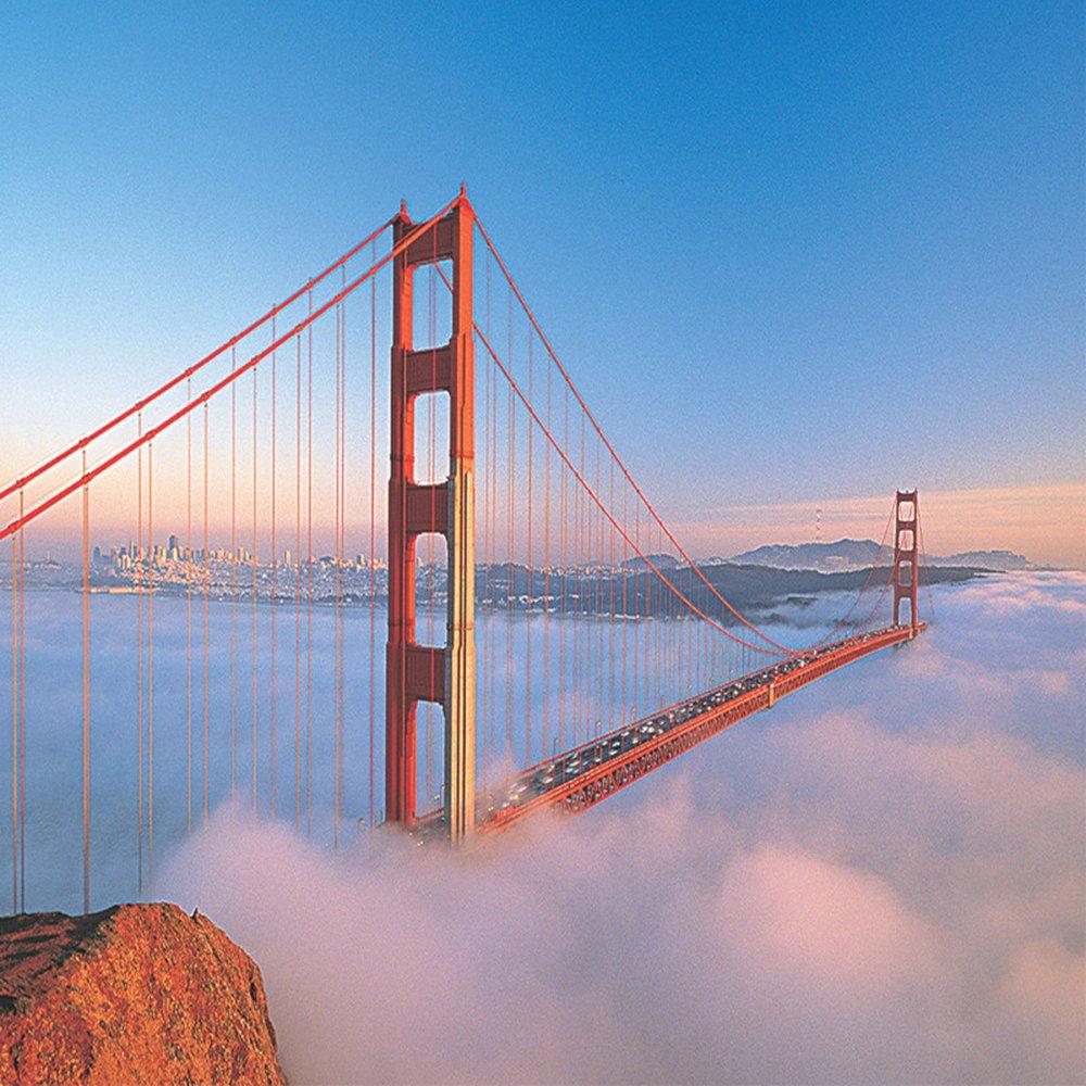 建筑拼图 益智游戏 壁饰/挂画 风景油画 装饰画 美国金门大桥