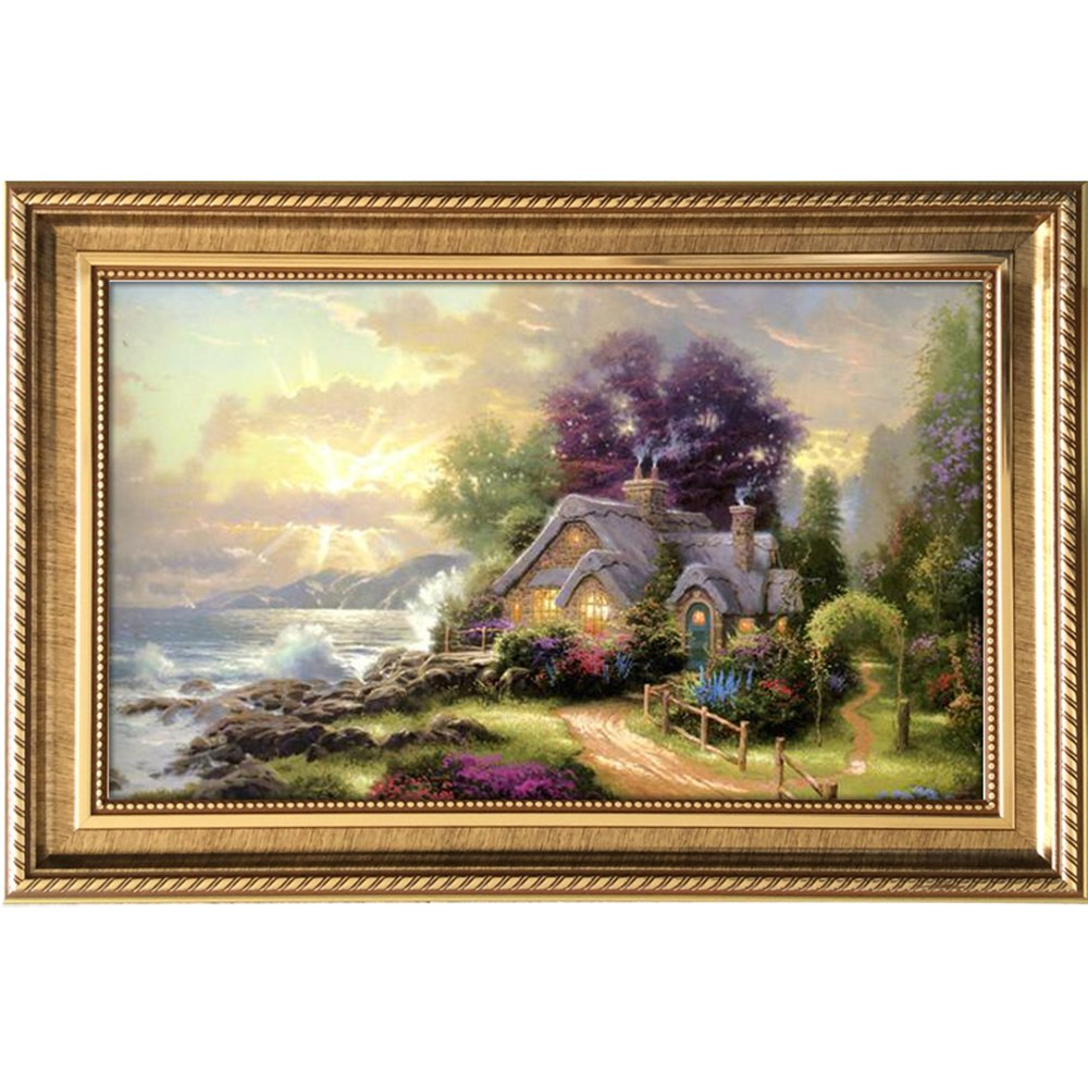 室全室美 客厅现代装饰画 欧式壁画 墙画 风景画有框画餐厅画美丽家园