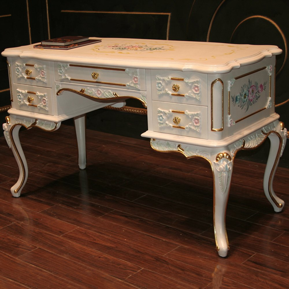 沛俪菲帕 欧式奢华 浪漫古典家具 书房系列 实木 办公桌 欧式实木雕花