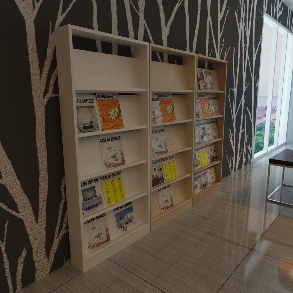 现代 简约书刊架 立式置物架 板式客厅柜 门厅书报隔板加 现生产 家具图片