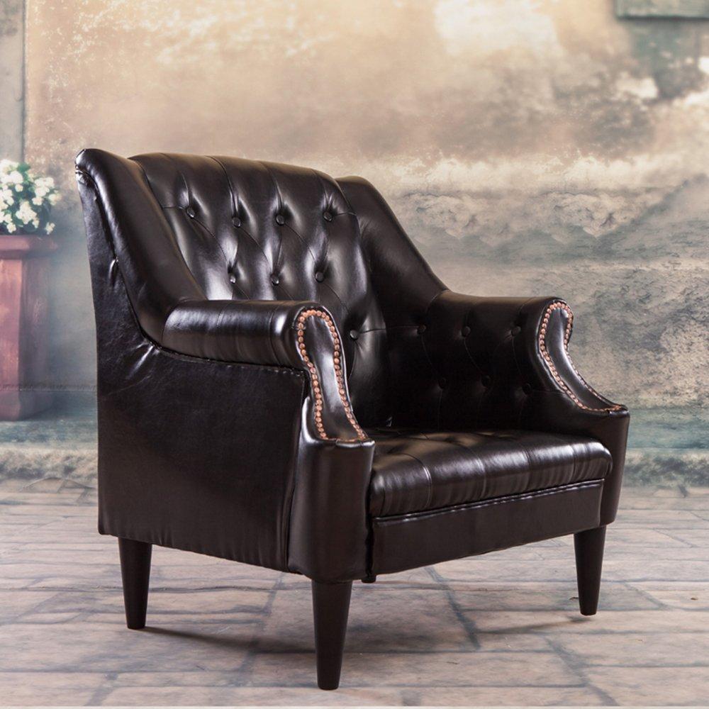 惠宜 欧式复古沙发 客厅组合沙发时尚皮艺沙发 客厅阳台休闲椅 可选