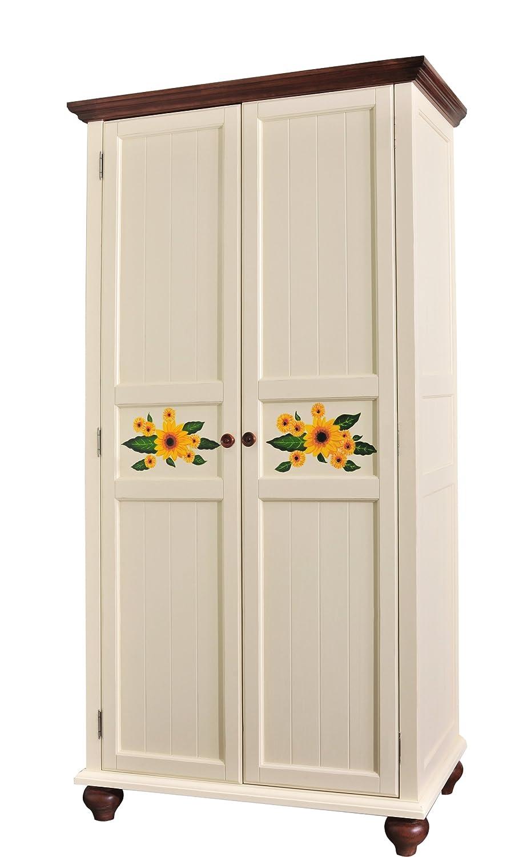 汇众家居 美式乡村风格 做旧家具 201米白色衣柜 1100
