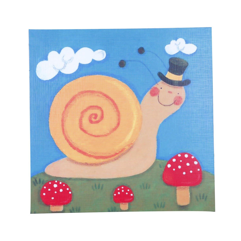 新视觉 抽象油画 无框画 家居摆设 艺术画 《可爱的蜗牛》40*40cm yh