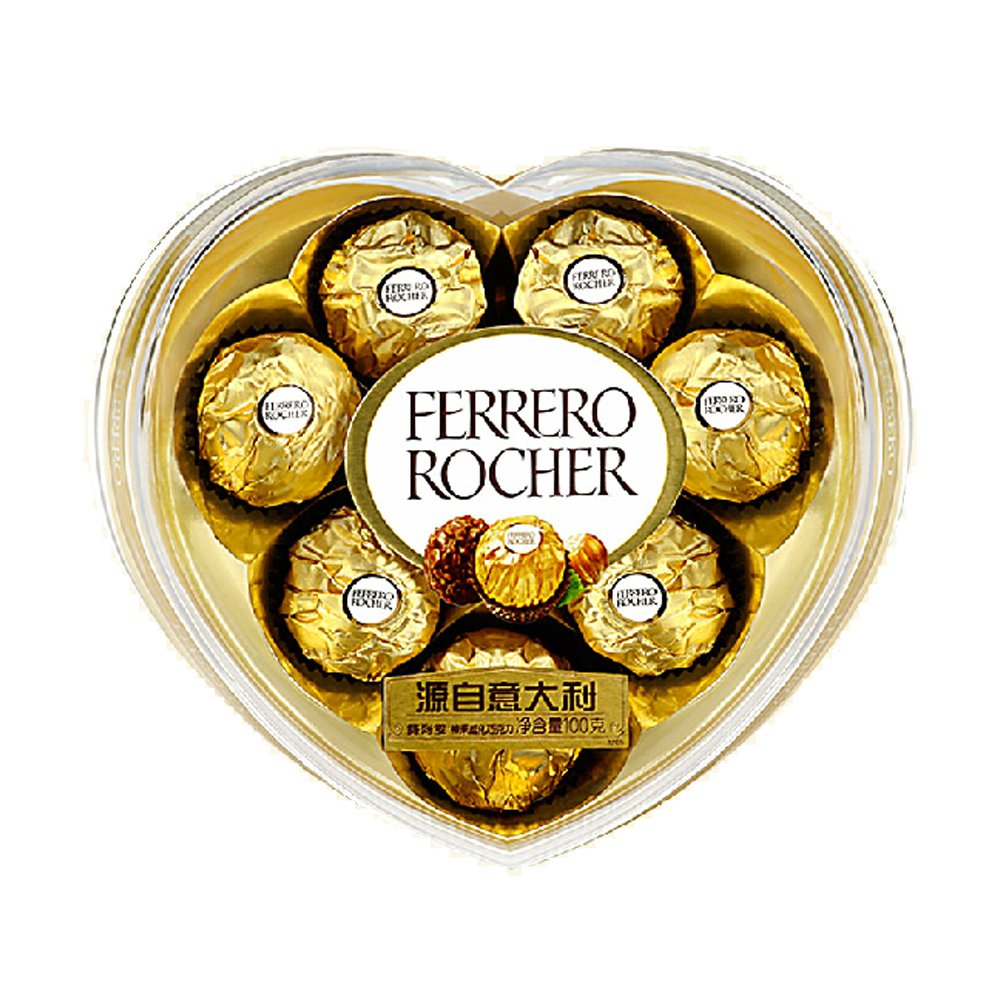 费列罗有代��b��H_ferrero/费列罗 原装巧克力t8心型巧克力 喜糖员工福利生日礼盒