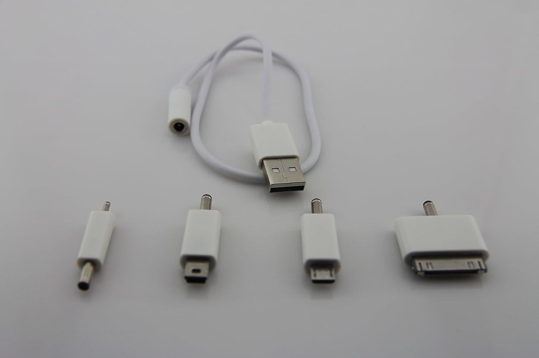 juusen 巨胜 移动电源充电宝一拖四数据线,转接线充电