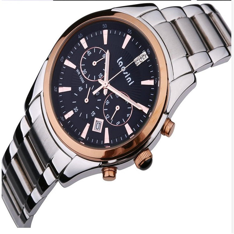 劳斯特手表_laosini 劳斯尼 正品手表商务男士白色大表盘金色男表