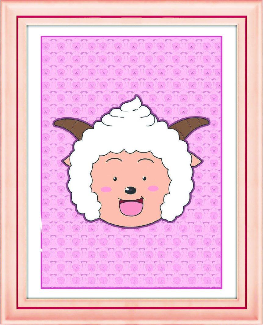 水钻石绣懒羊羊客厅立体十字绣卡通动漫