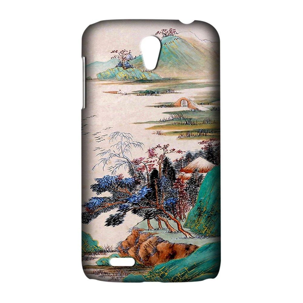 摩品 联想 a859 创意彩绘个性手机壳 a859 手机套 硬壳 l015