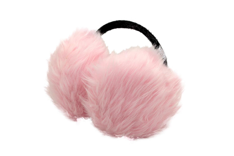 韩国秋冬季可爱时尚仿兔毛保暖耳暖粉色05