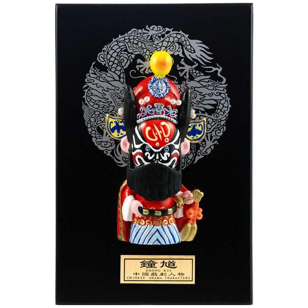 稻禾 陶瓷浮雕卡通京剧娃娃装饰摆件 创意中国风节日商务外事出国礼品