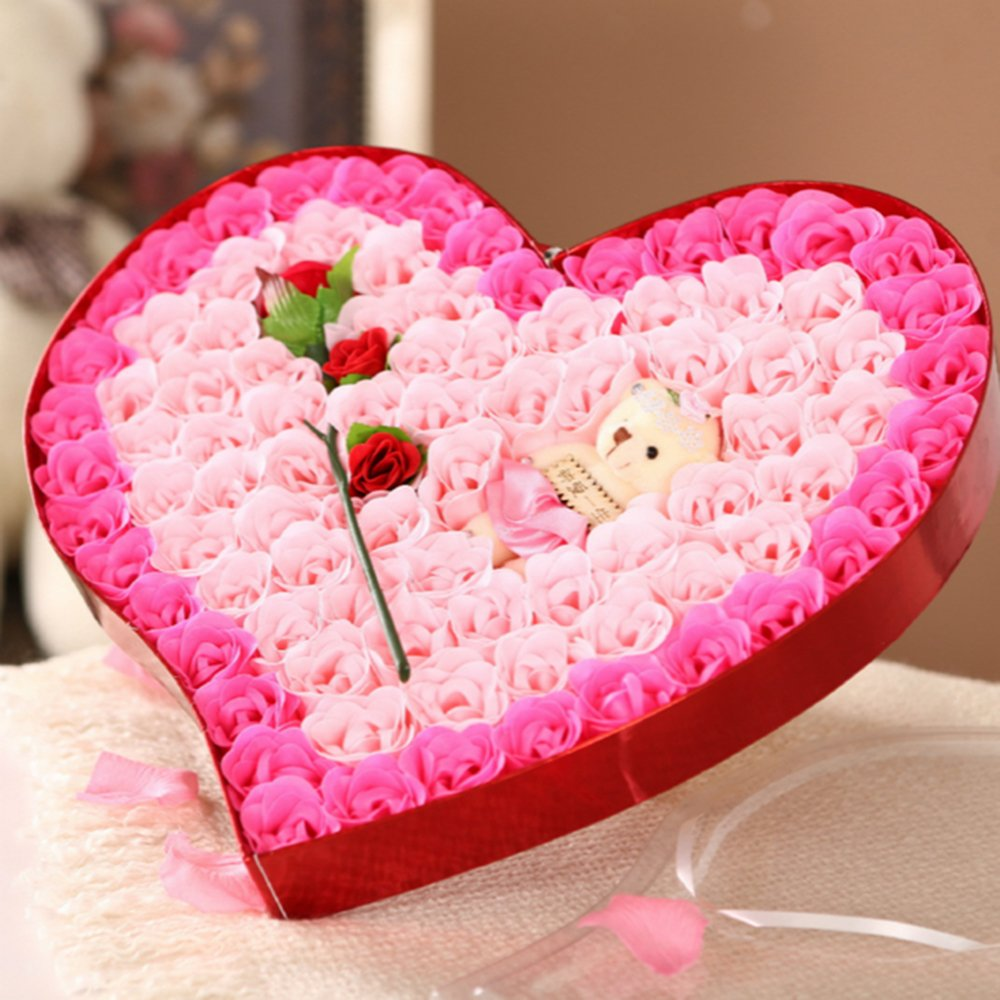 露趣 情人节生日创意礼物 女生闺蜜老婆女朋友浪漫惊喜实用香皂玫瑰花
