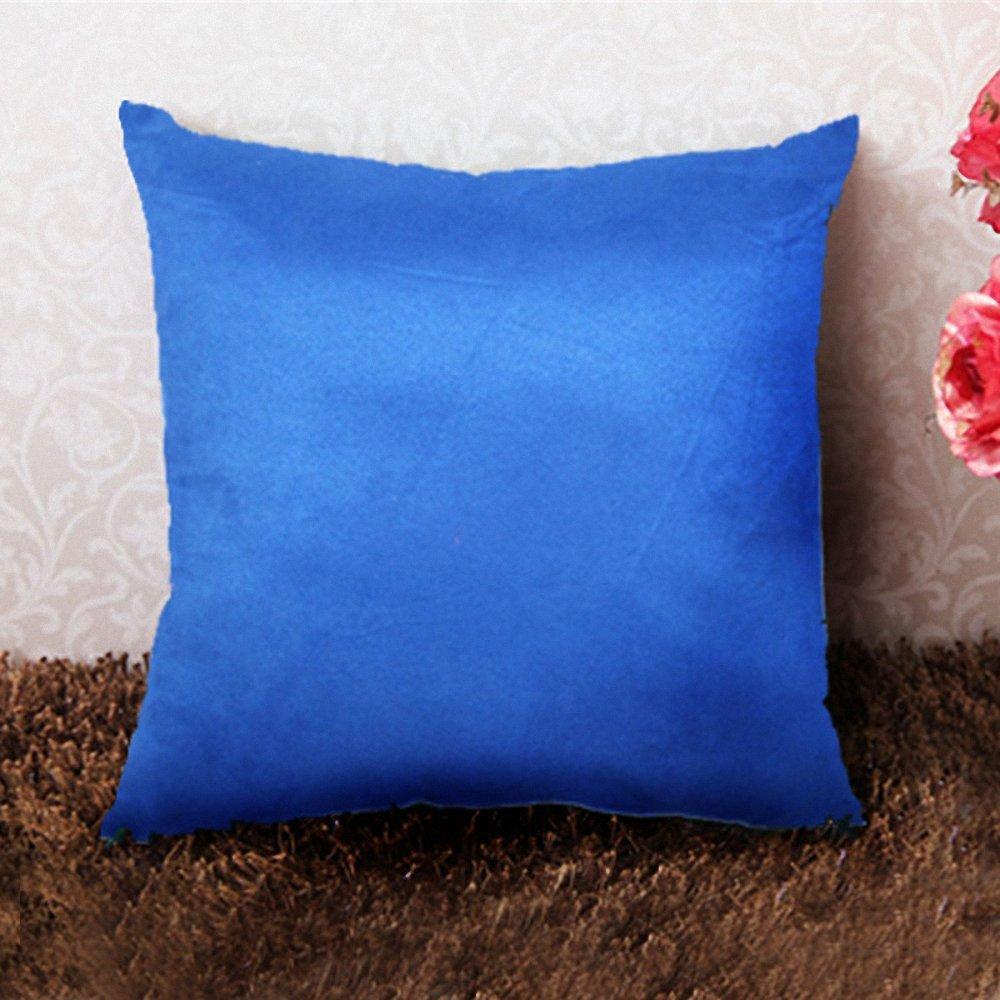 沙发靠垫大号 床头软包靠枕抱枕 办公室椅子靠垫含芯 50x50cm 宝蓝色