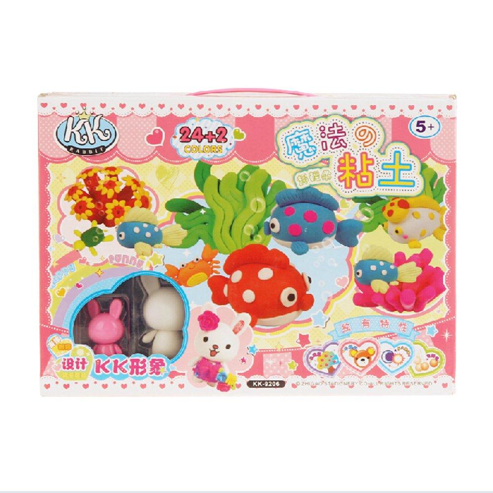 彩泥玩具手提礼盒 学生礼品/礼物/奖品 六一儿童节礼物 (粉色海洋)