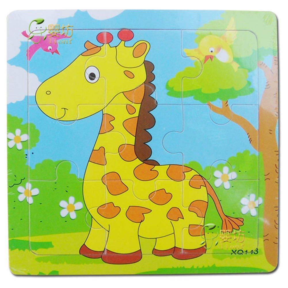 lionf 乐婴坊 动物拼图 卡通动物拼图 儿童拼图拼板玩具0100