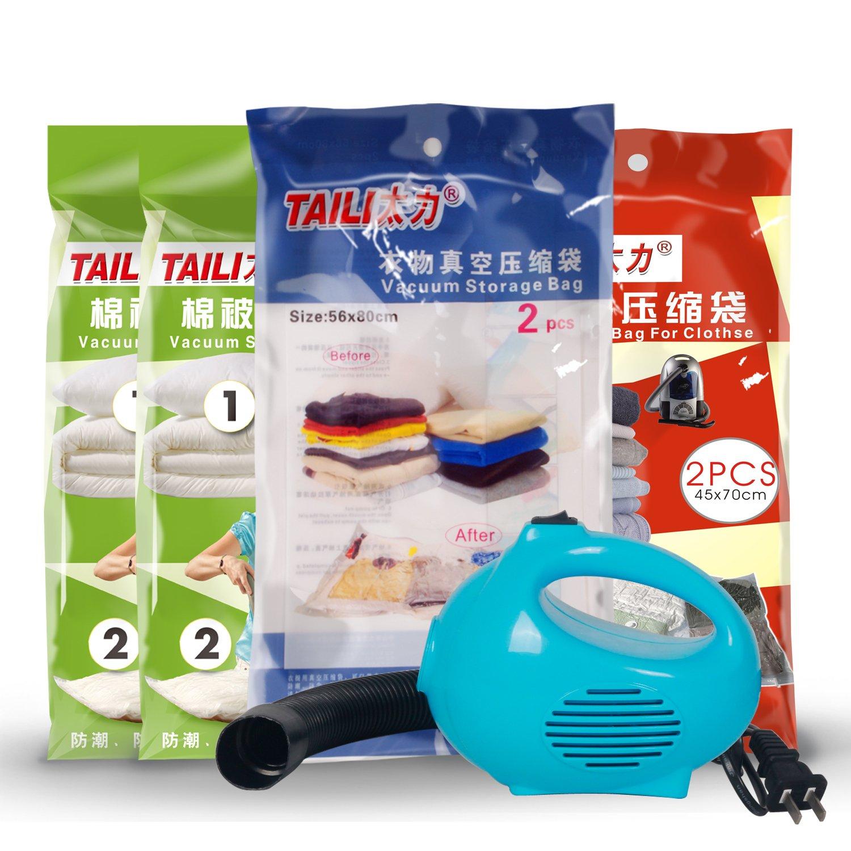 TAILI太力AY374太力真空压缩袋组合装8件套送电动泵 ¥89