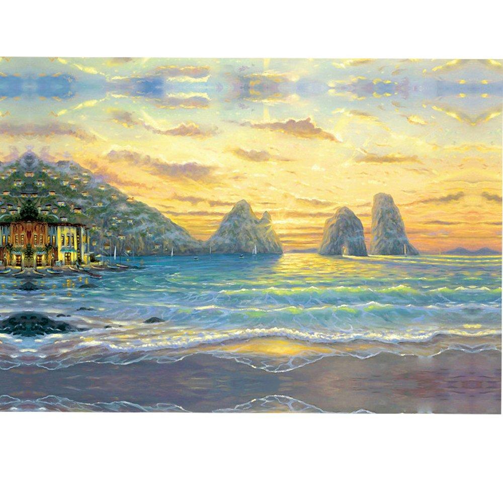 木质拼图1000片 拼图  海边日出-地中海> 高档拼图 装饰画 风景画