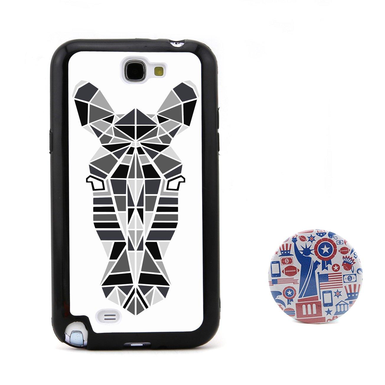 斑马3d多边形动物头像浮雕设计风格 塑料+tpu手机壳 手机套 适用于