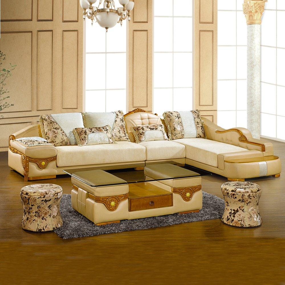 【沙发尺寸】长宽高:三人位+单人位+贵妃位