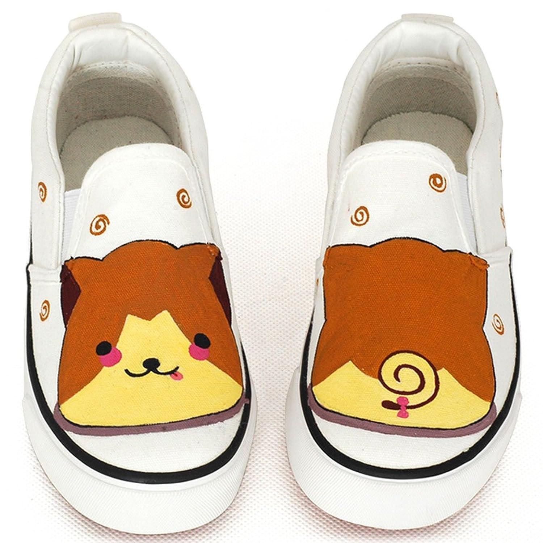 卜丁 春款童鞋 儿童帆布鞋男女童鞋 手绘鞋宝宝鞋一脚蹬 套脚板鞋 b