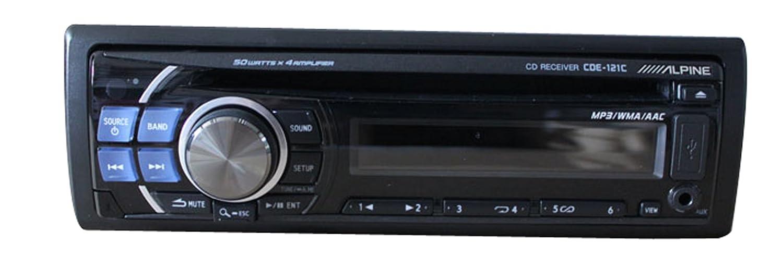 alpine阿尔派cde-121c cd/mp3/wma/aac播放器