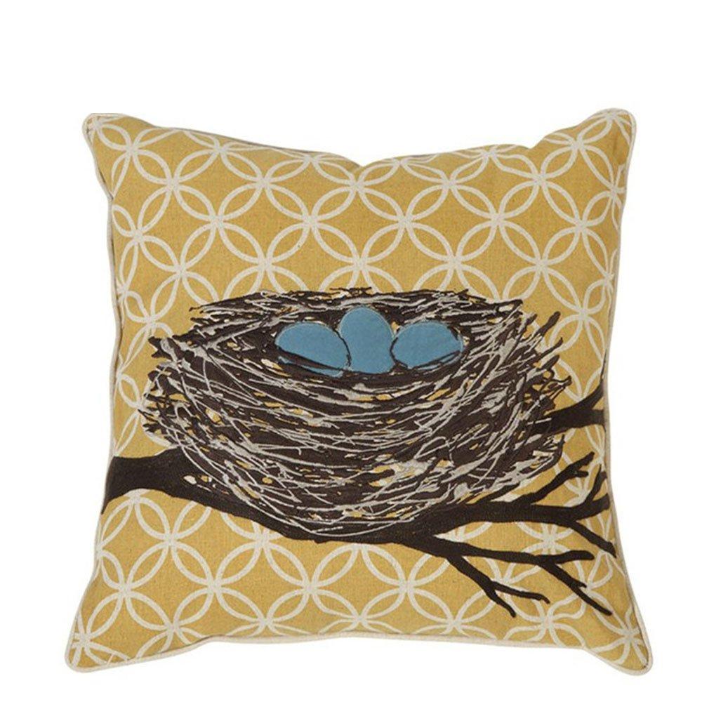 美式乡村棉麻刺绣抱枕