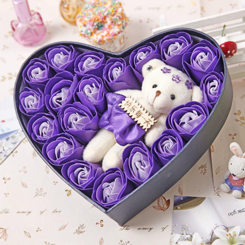 露趣 情人节生日创意礼物 送女生闺蜜老婆女朋友浪漫惊喜实用香皂玫瑰