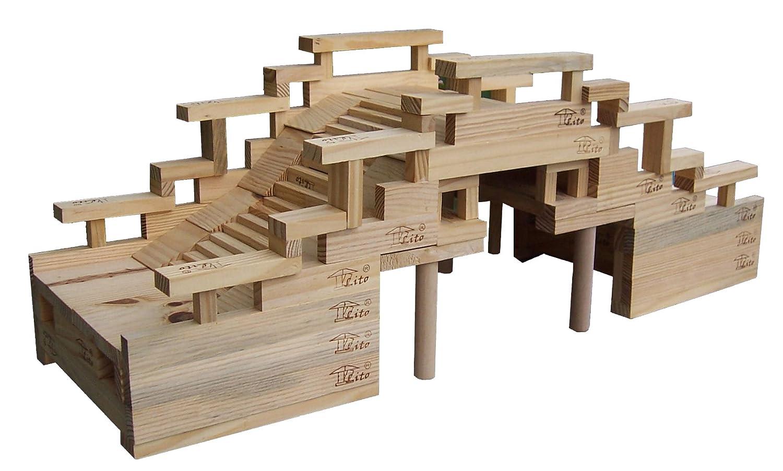 立特古代建筑科普木质积木园林桥g0704